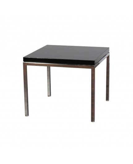 Et 8 Freeman Black Laminate End Table Chrome Frame
